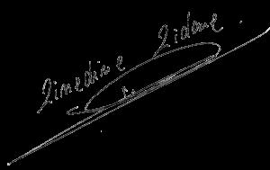 Signature de Zinedine Zidane